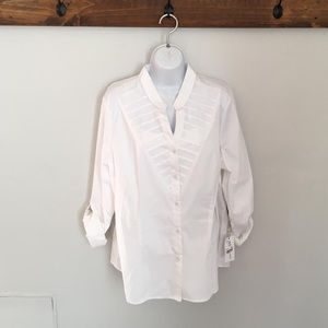 NY Collection button up Blouse